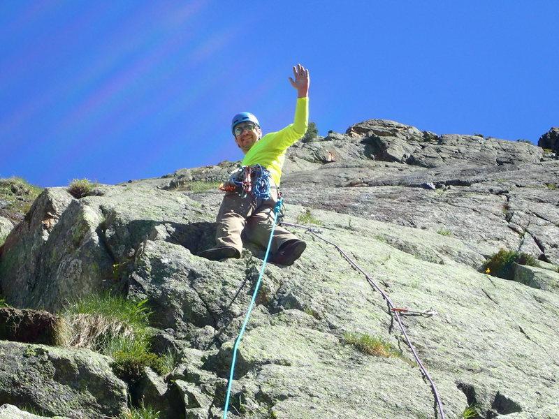 Rock Climbing Photo: Me starting P1.