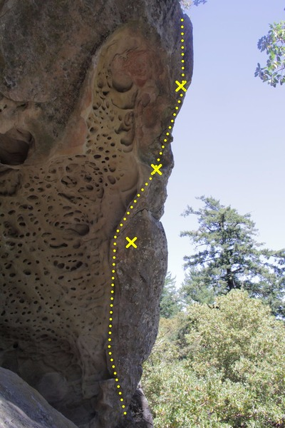 Rock Climbing Photo: Dismal abysmal route and bolts