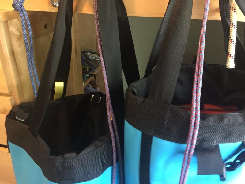Rock Climbing Photo: Side By Side Haul Bags Uneven