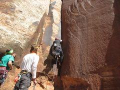 Rock Climbing Photo: Jonny's rack looks a little heavy.