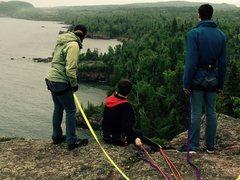 Rock Climbing Photo: Me and Mason belaying on Ross's Crack