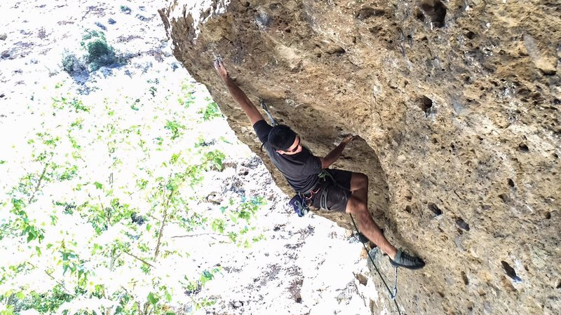First major send sense shoulder surgery, and hardest route he's ever done.  Props.