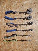 Rock Climbing Photo: BERGSPORT JOKER Single Side Cams. Size 1, 2 4, 5.