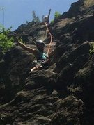 Rock Climbing Photo: 3rd trip up...this time KLS lead and I followed. P...
