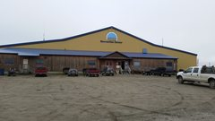 Rock Climbing Photo: Outside of the rec building in Nome, which houses ...
