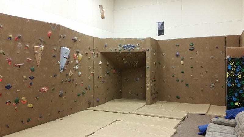 Rock Climbing Photo: The bouldering area at the Nome climbing wall.