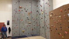 Rock Climbing Photo: The larger portion of the Nome climbing wall.