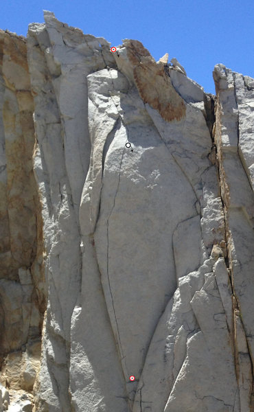 Rock Climbing Photo: The top anchor, bottom anchor, and optional interm...