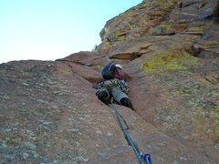 Rock Climbing Photo: Bastille, p3 crux. Thanks for the photo, Chris.