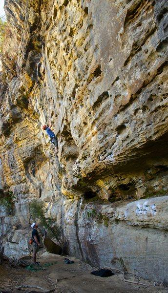 Rock Climbing Photo: At the 3rd bolt