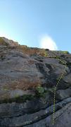 Rock Climbing Photo: Start of the route. Photo Ian Harris.