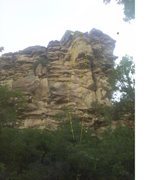 """Rock Climbing Photo: South Face of Rappelling Rock with """"Touch the..."""