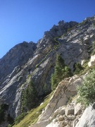 Rock Climbing Photo: Detailed TOPO of The Paisley Buttress Route. Climb...