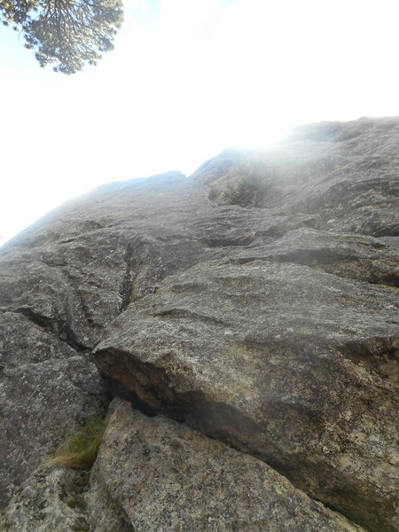 Guilty Conscience-- sustained 5.8 arete/slab.