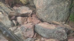 Rock Climbing Photo: Two halves in situ