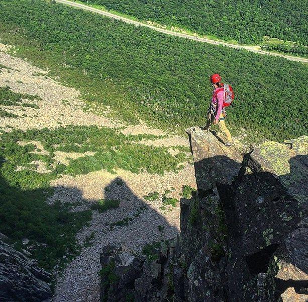 Rock Climbing Photo: Johanna atop the G