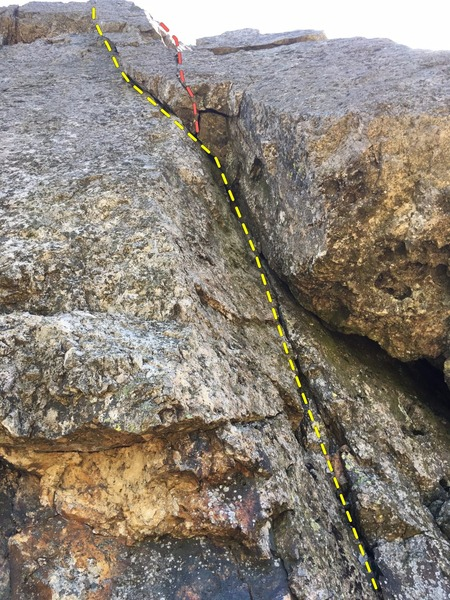 Rock Climbing Photo: First Crack.