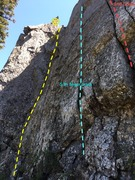 Rock Climbing Photo: Climb goes up the dihedral. Easily protected.