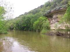 Rock Climbing Photo: Seismic wall facing southwest/upstream