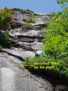 Rock Climbing Photo: Starting P3 - We think the water runnel in the pho...