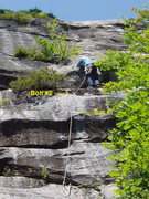 Rock Climbing Photo: Mid-way up P3 - From the belay at end of P2, if yo...