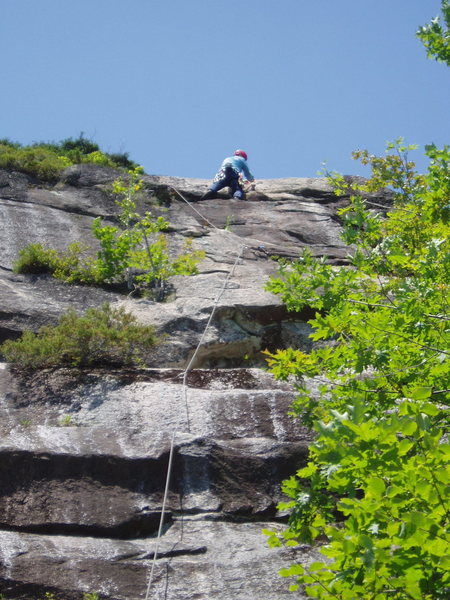 Rock Climbing Photo: Just about at the belay, end of P3 Trail of Tears