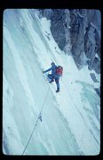 Rock Climbing Photo: In 1980 Mendel was fat ice top to bottom. This was...