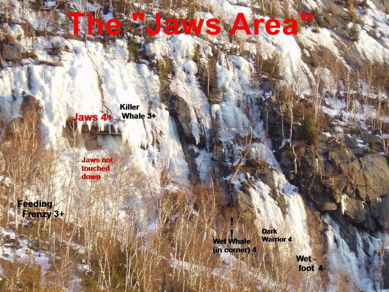 "Rock Climbing Photo: ""Jaws"" Area"