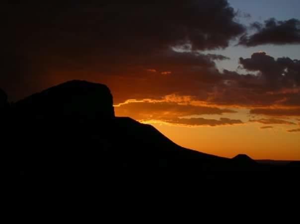 Sunset from monster island