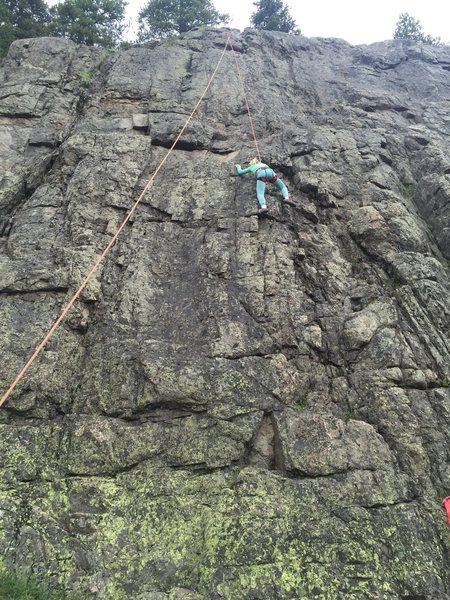 Freya Climbing Ring Piton Route.