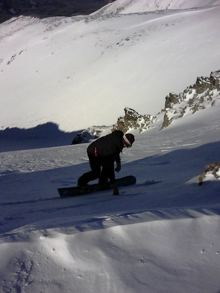 Hard boot snow board