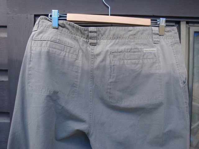 Basic pants made from a non-petroleum derived fabric with a soft hand-