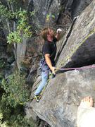 Rock Climbing Photo: Mauricio Herrera Cuadra negotiating the OW section...