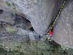 Rock Climbing Photo: Francisco Herrera starting the last dihedral befor...