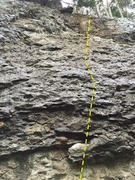 Rock Climbing Photo: The routes Pompel and Pilt.