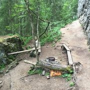 Rock Climbing Photo: The firepit across from Pompel.