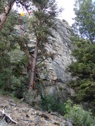Rock Climbing Photo: Perseverance Furthers -  1st pitch topo