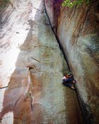 Rock Climbing Photo: Tr'ing the classic. :) Looking forward to havi...