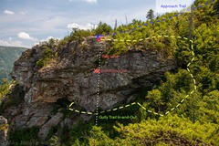 Rock Climbing Photo: Crag topo, Appoarch and De-approach