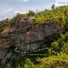 Crag topo, Appoarch and De-approach
