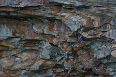 Rock Climbing Photo: Into the meat of Dark Angel