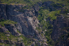 Rock Climbing Photo: Beta Photo of the Entire Prow Cliffside, from suns...