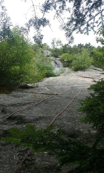 The rope shows the route.