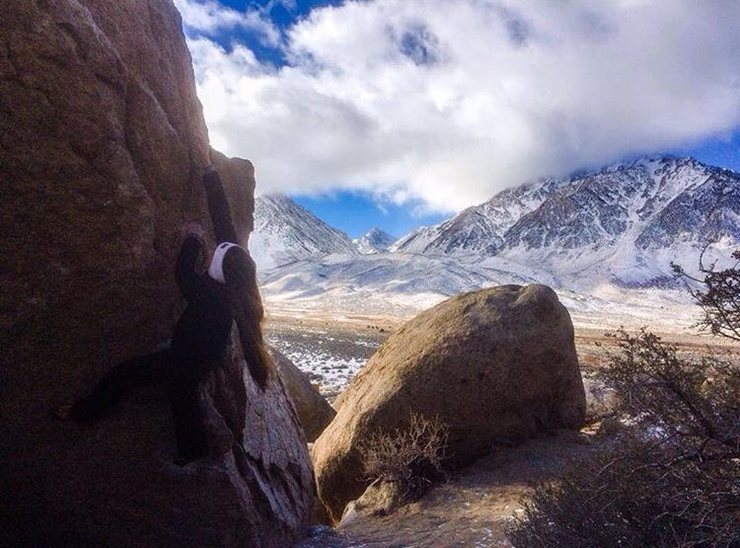 Rock Climbing Photo: Bouldering V0 buttermilks bishop California