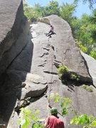Rock Climbing Photo: Chase leading Battered Sandwich