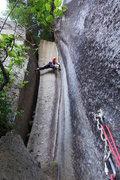 Rock Climbing Photo: stemming P3