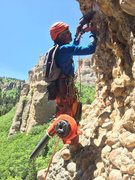 Rock Climbing Photo: Adding Alisha's exclusive courtesy bolt. The l...