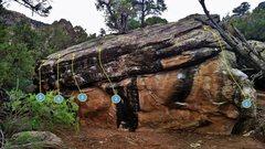Rock Climbing Photo: Tomorrowland problems:  1. Tomorrowland (V3) 2. Gu...