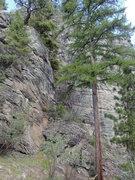 Rock Climbing Photo: Hidden Slot from the bottom, west end approach.