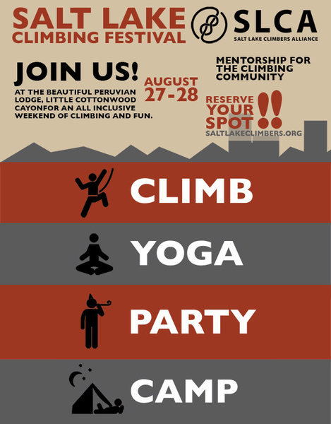 Join us for the best climbing festival in Salt Lake - the only climbing festival in Salt Lake.